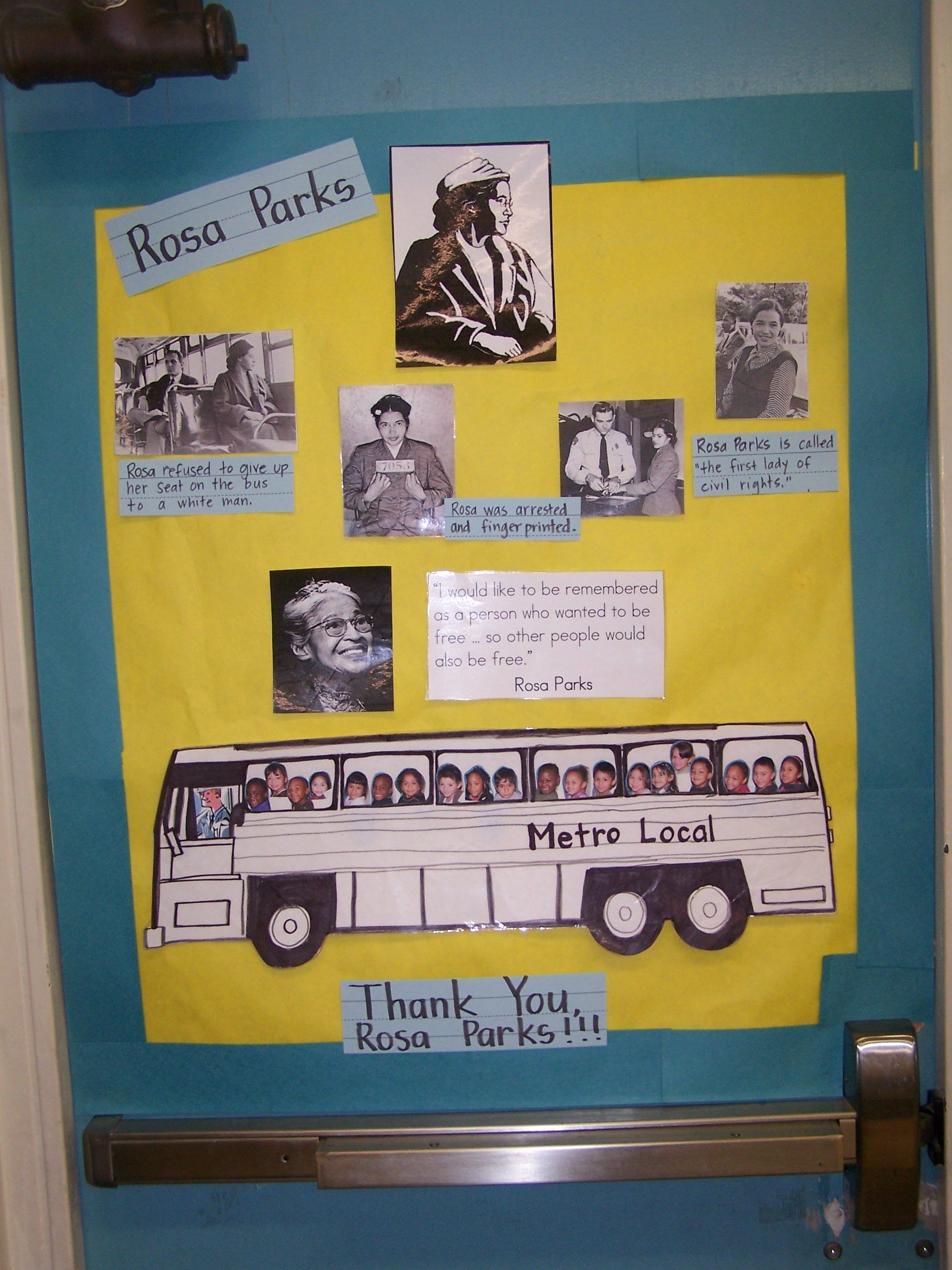 Rosa Parks Bulletin Board With Images Black History Month