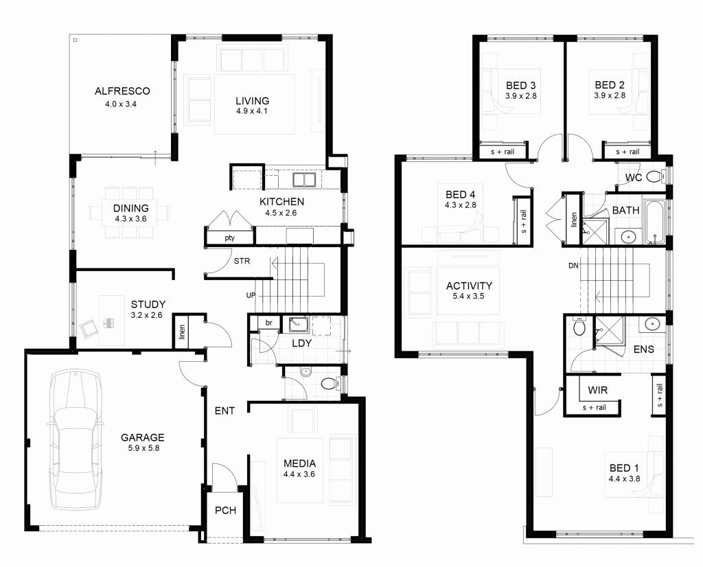 2 Floor House Plans Awesome Luxury Sample Floor Plans 2 Story Home New Home Plans Design In 2020 Double Storey House Plans House Plans Australia Two Storey House Plans
