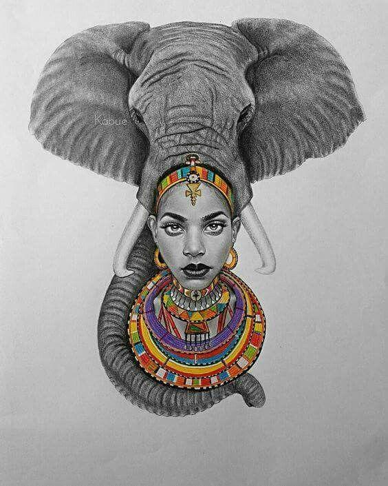 Black Queen Tattoo Designs : black, queen, tattoo, designs, Meaningful, Tattoos, Beautiful, African, Queen, Tattoo,, Africa