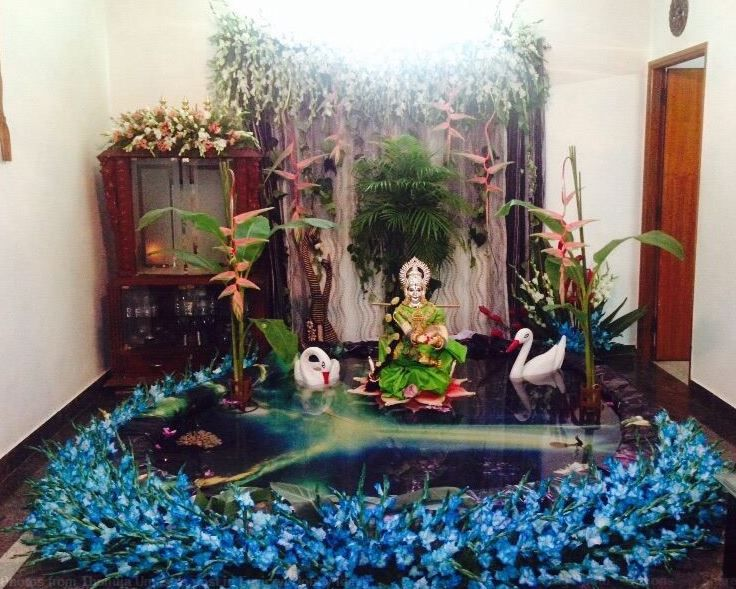Saraswati Puja Decoration Saraswati Pooja Decoration And Rangoli Designs