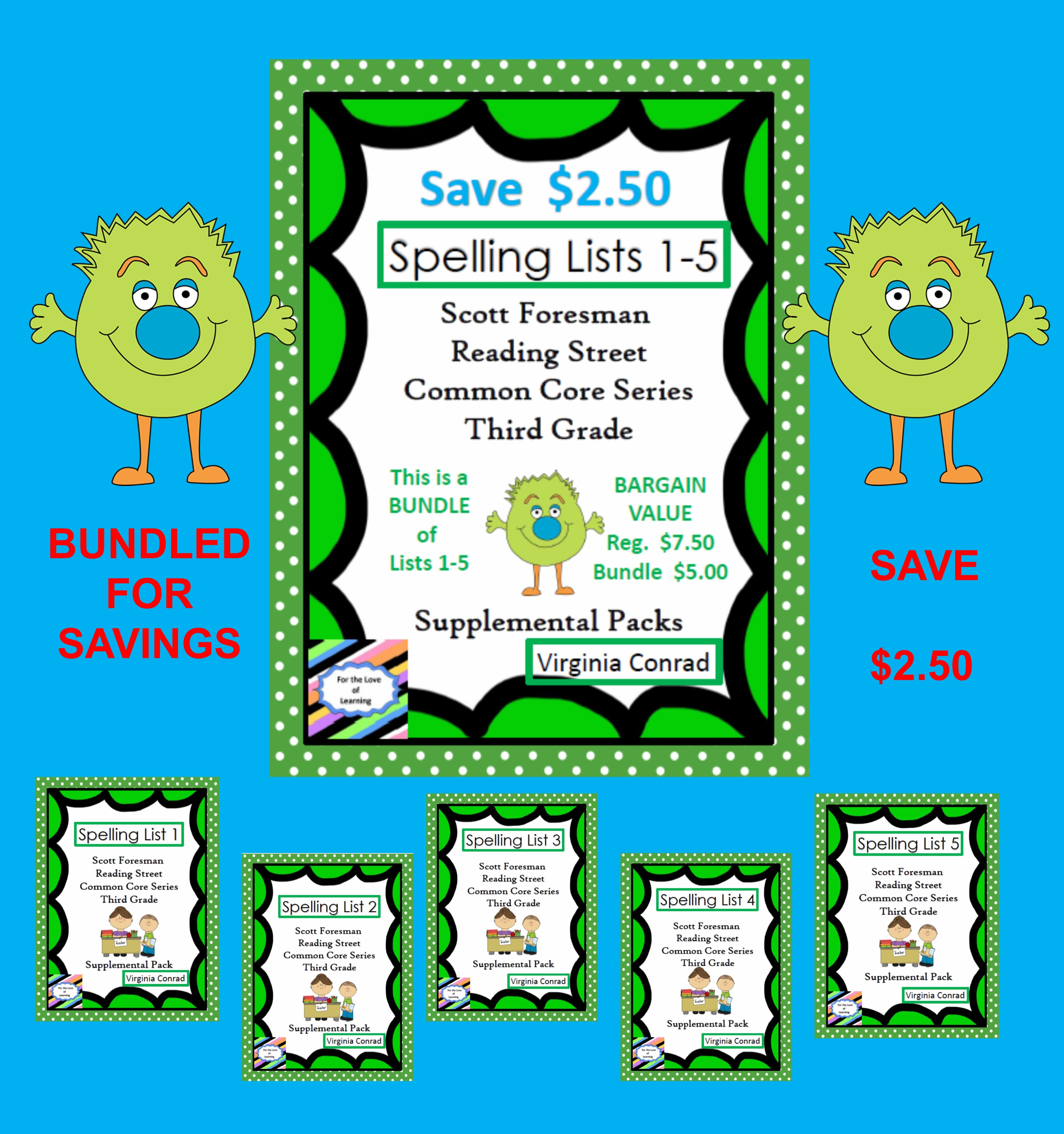 Reading Street Supplemental Packets For Spelling Lists 1