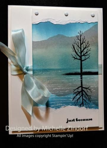 Just Because Mountain Tree Reflection Card By Michelle Zindorf