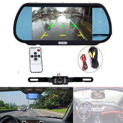 "7"" LCD Car Mirror Monitor  Rear View Backup Reverse Night Vision IR Camera  https://t.co/BxUdMjkiLH https://t.co/0Gj2wMcxCC"