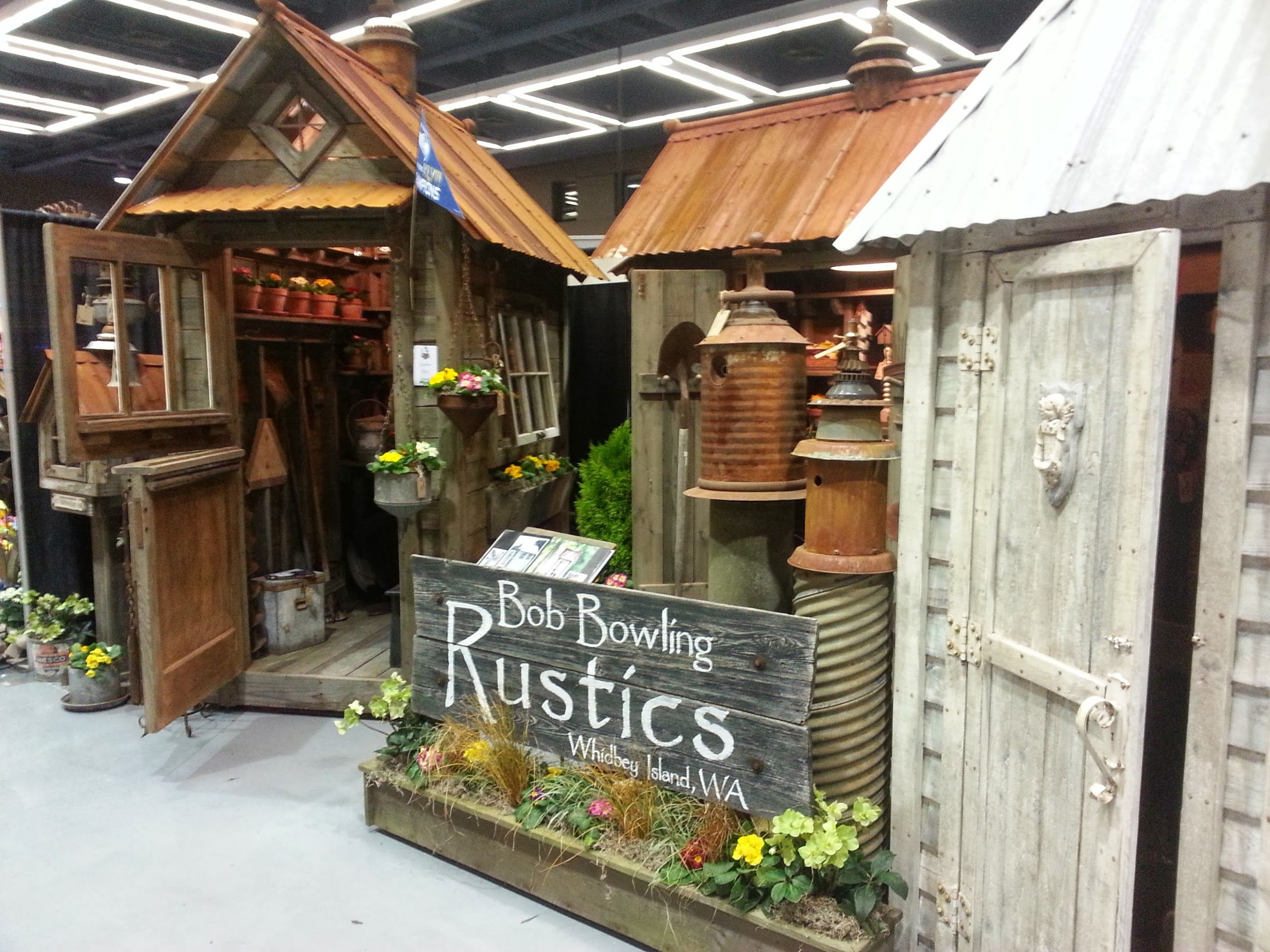 Garden sheds. Bob Bowling Rustics\' display at the 2014 NW Flower ...