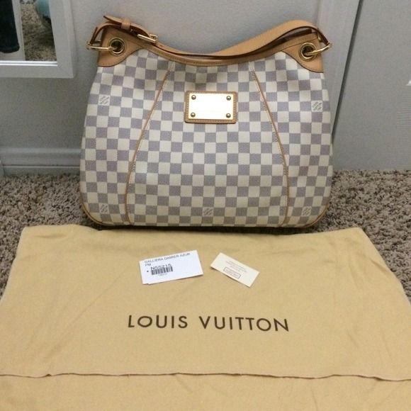 💯Authentic Louis Vuitton Galliera Damier Azur pm
