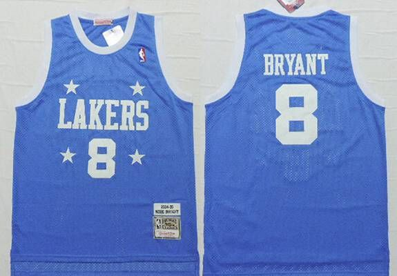 d7b78870a37 Men s Los Angeles Lakers  8 Kobe Bryant 2004-05 Light Blue Hardwood  Classics Soul Swingman Throwback Jersey