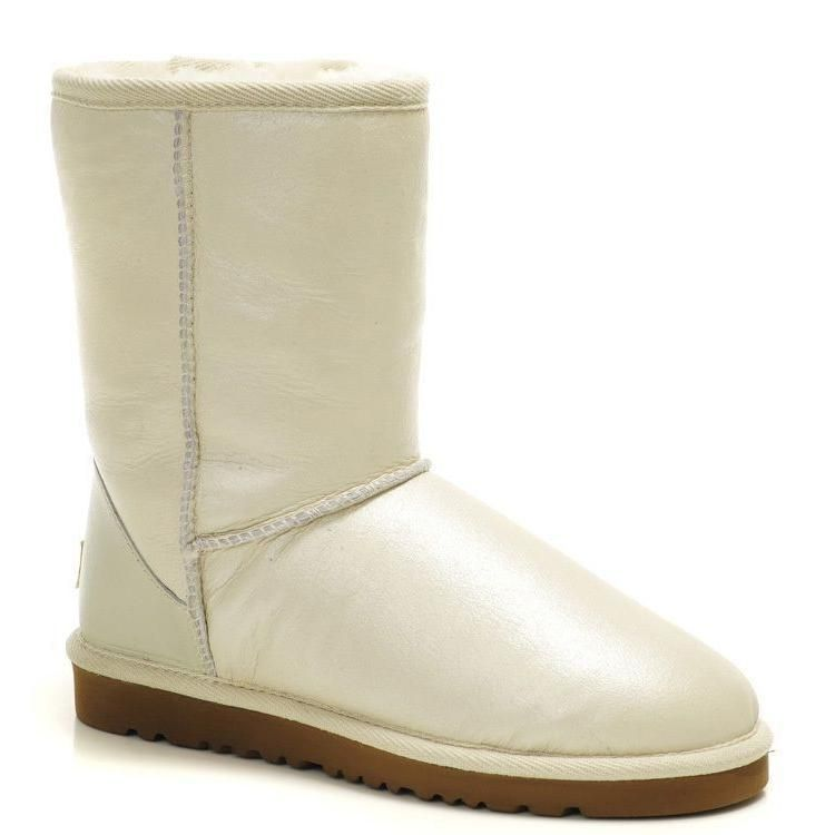 Ugg Classic Short Metallic 5842 Sterling Boots White