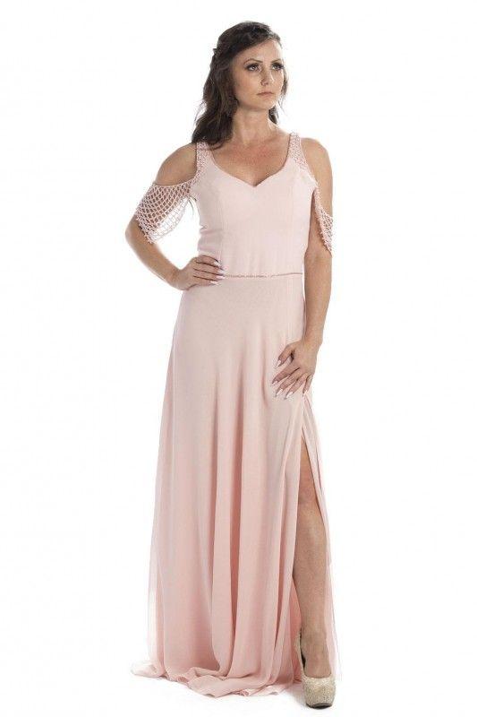 375a0320ae Same No More - Aluguel de Vestidos e Acessórios para Festa. Vestido Ayla -  Vestido em crepe rosa claro