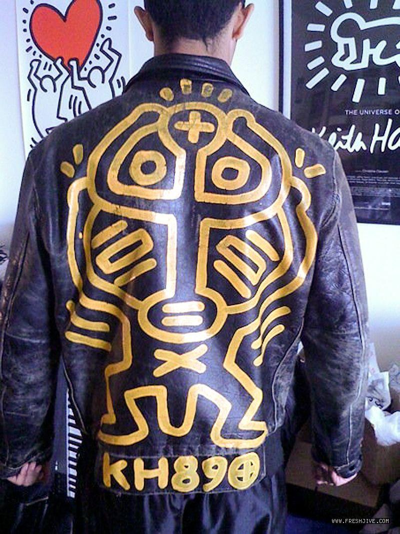 79a6f1a3e Keith Haring Motorcycle Jacket | Keith Haring | Fashion, Keith ...