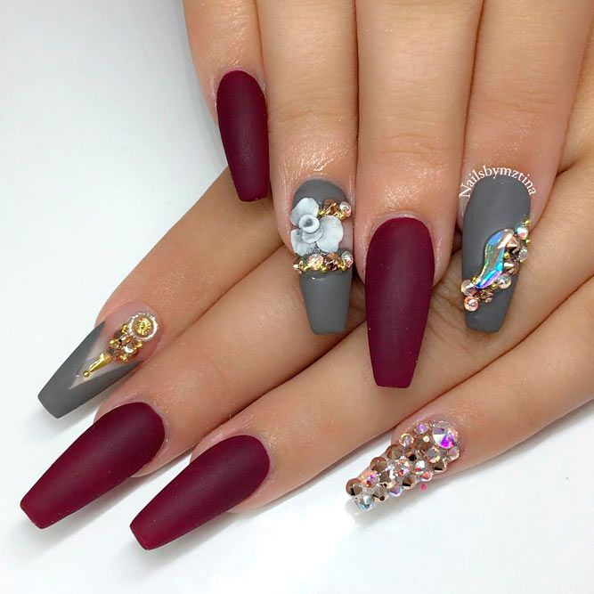 30 Burgundy Matte Nails Designs That Drop Your Jaw Off ...