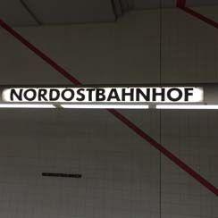 Ankunft am Nordostbahnhof in Nürnberg