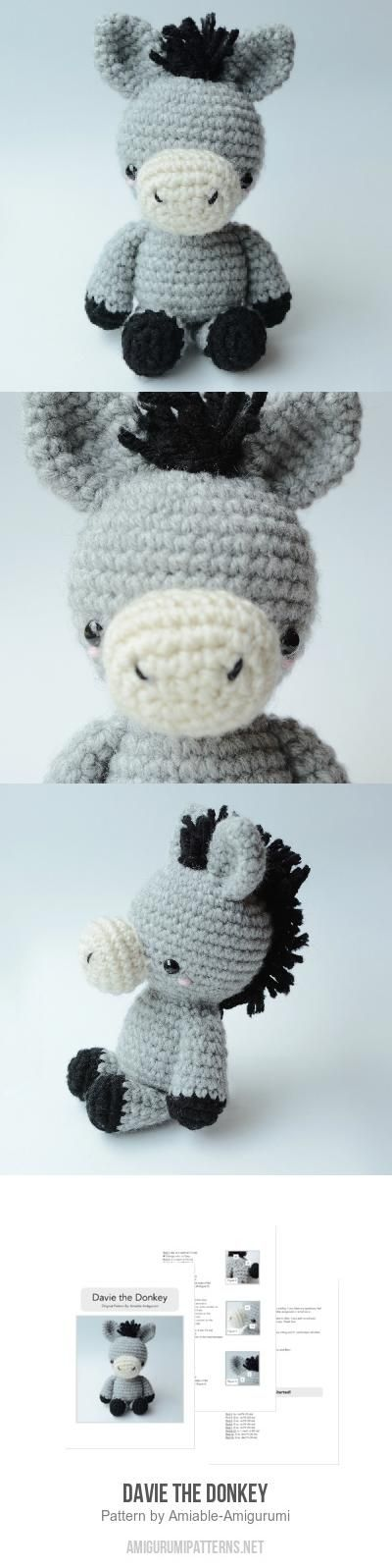 Davie The Donkey Amigurumi Pattern | Häkel-Esel | Pinterest | Häkeln ...