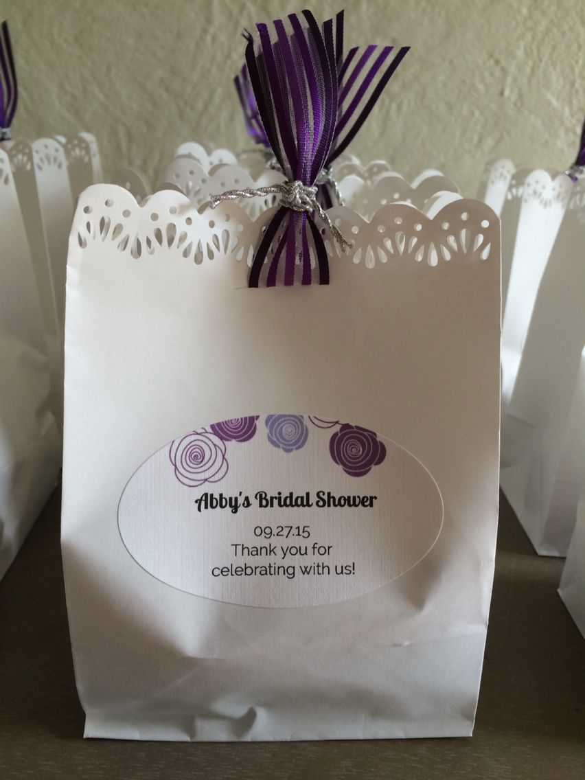 Bridal shower favors using Martha Stewart bags from Michael\'s and ...