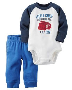 a1b8b1694 Carter's 2-Piece Bodysuit & Pant Set. Carter's Baby Clothing Outfit Boys ...