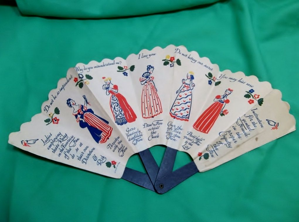 Shulton Early American Old Spice Talcum powder paper fan 1939 Advertising Paper Fan for Old Spice Talcum very RARE. $20.00, via Etsy.
