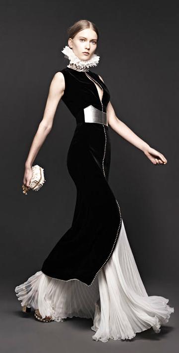 Pleated Alexander White Dress Black Velvet And Skirt Mcqueen Pkwn0O