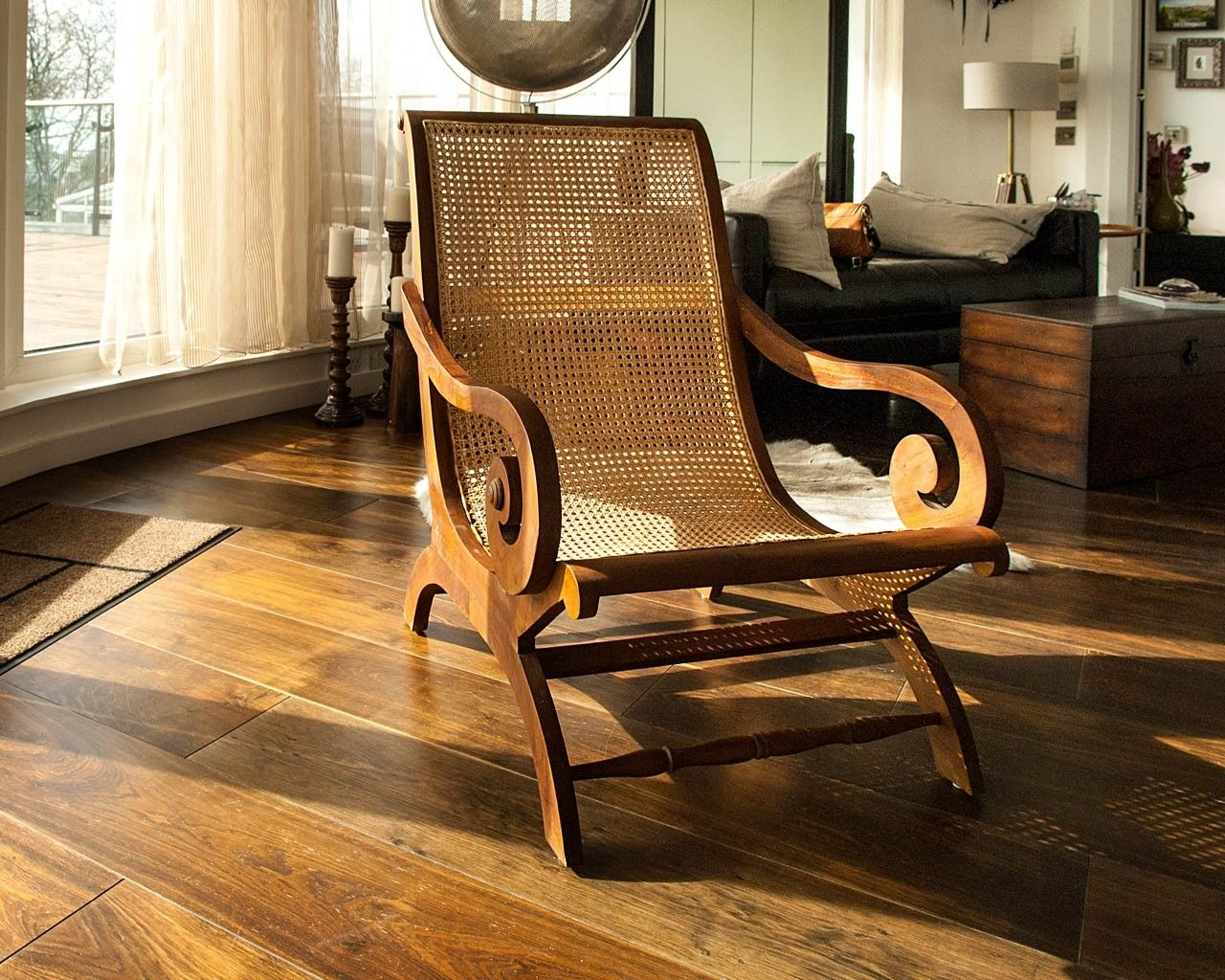 Colonial Lazy Chair Rattan Dining Chairs Teak Furniture