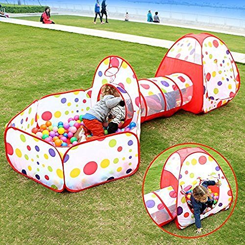 Play House Tent Tunnel EocuSun Pop up Kids Play Tent with Tunnel and Ball Pit  sc 1 st  Pinterest & Play House Tent Tunnel EocuSun Pop up Kids Play Tent with Tunnel ...