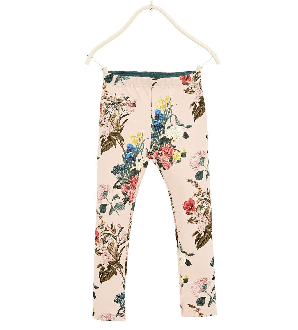 Pantalon Pique Estampado Leggins Y Pantalones Nina 4 14 Anos Ninos Zara Zara Girl Girl Fashion