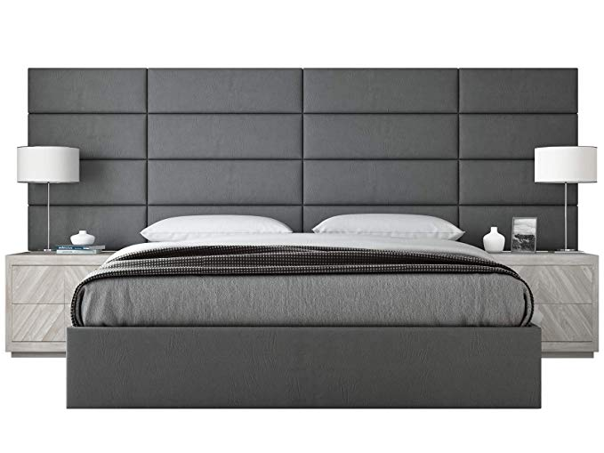 Amazon Com Vant Upholstered Wall Panels King Cal King Size Wall Mounted Headboards Vitage L In 2020 Upholstered Walls Upholstered Wall Panels King Size Headboard