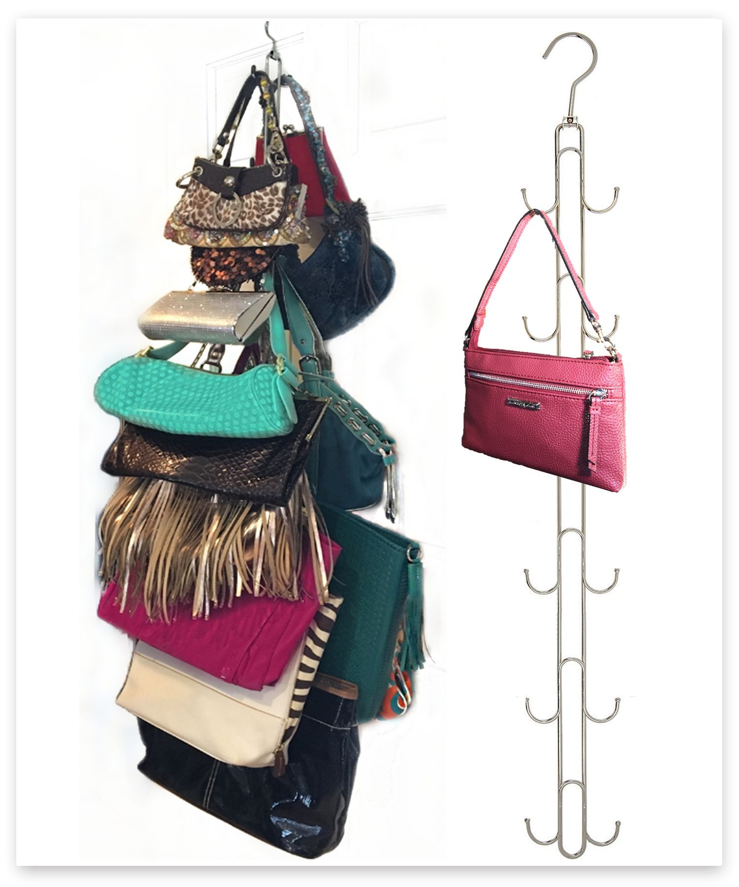 purse stax purse hanger purse and handbag vertical organizer