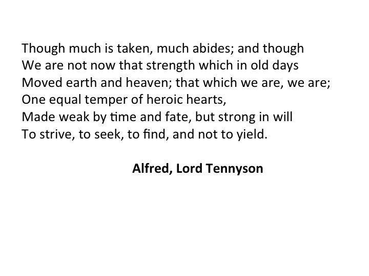 "Tennyson""s Ulysses"