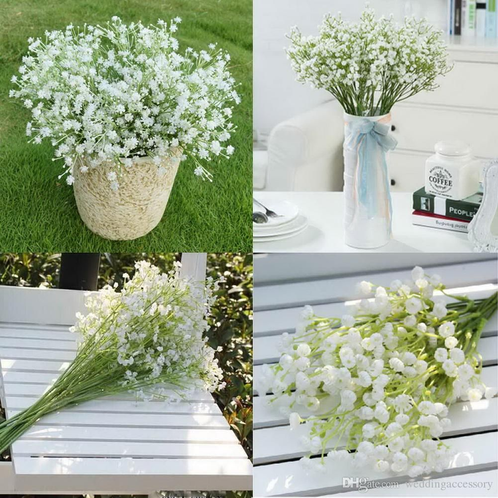12pcslot gypsophila silk baby breath artificial fake silk flowers 2016 gypsophila silk baby breath artificial fake silk flowers plant home wedding party home decoration high quanlity from weddingaccessory 485 dhgate izmirmasajfo