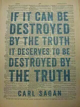 The truth is a powerful weapon.