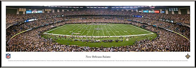 New Orleans Saints Framed Panoramic Poster Print Louisiana