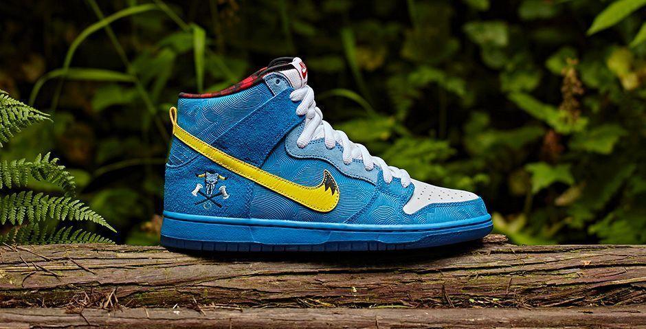 Nike Sb Dunk High Premium Blue Ox