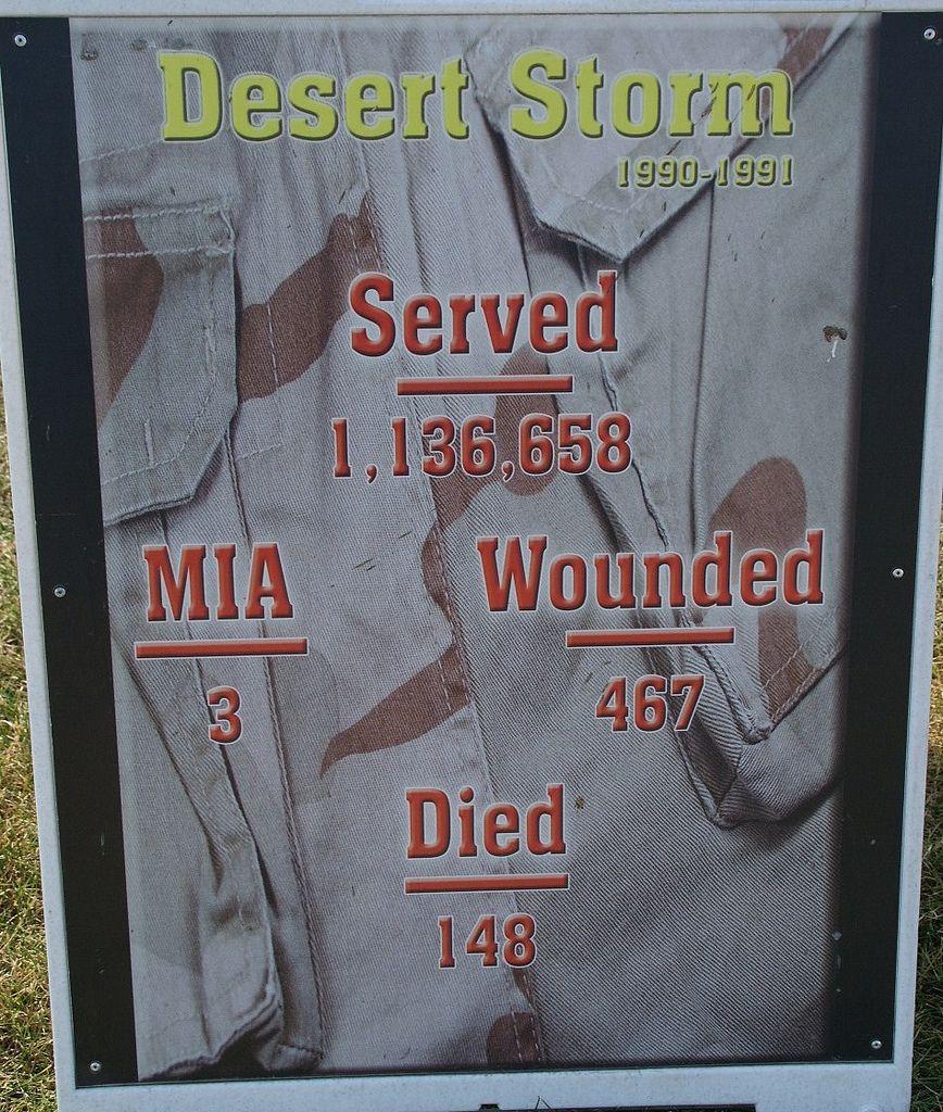 AVTT War Memorial Desert Storm (19901991) War