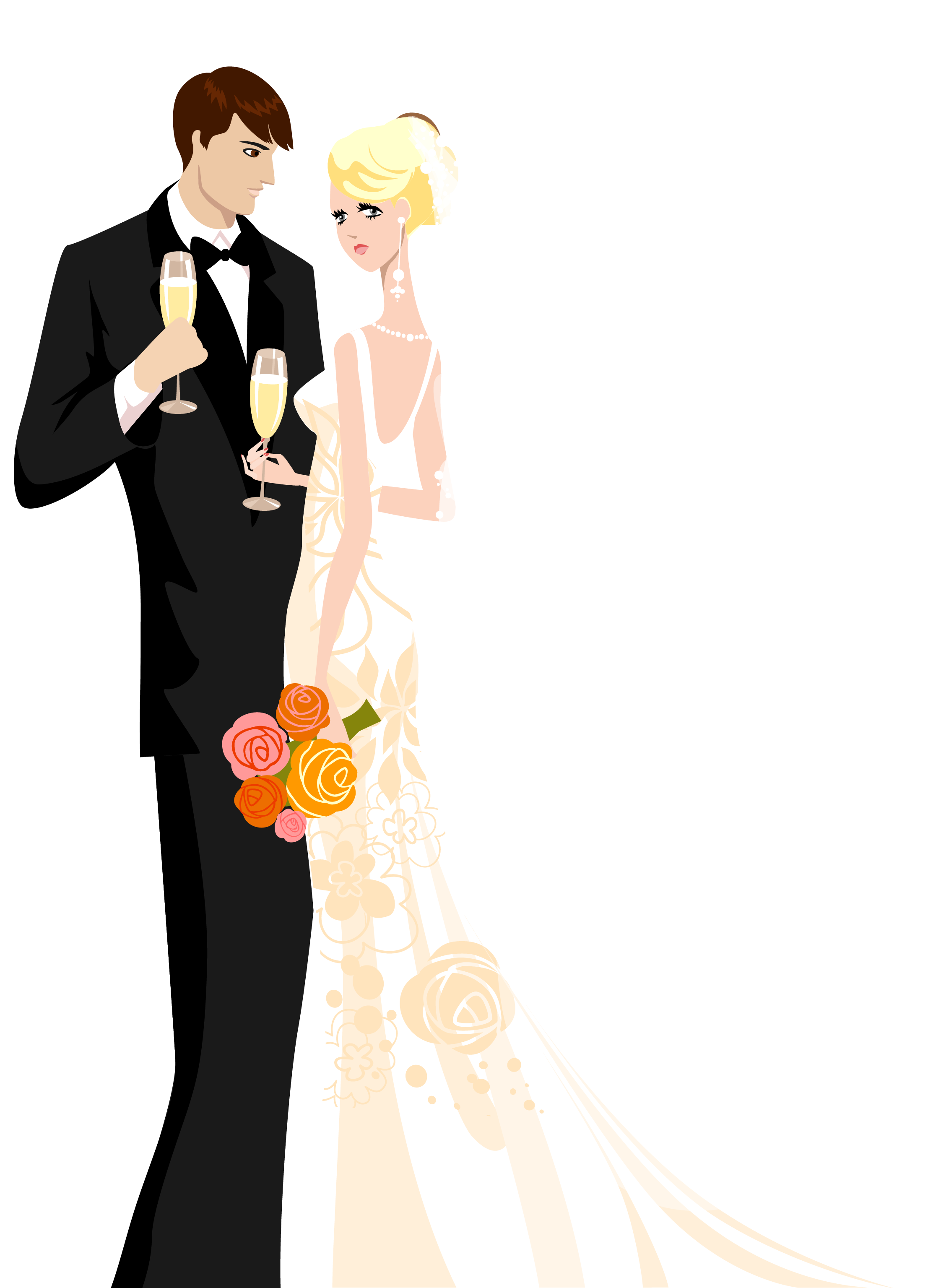 Рисунок жених и невеста | Wedding illustration, Wedding ...