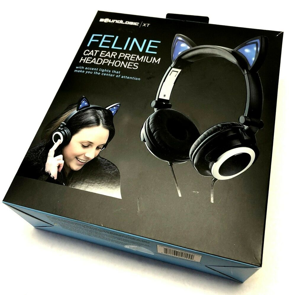 Details about Feline Cat Ear Premium Headphones Sound