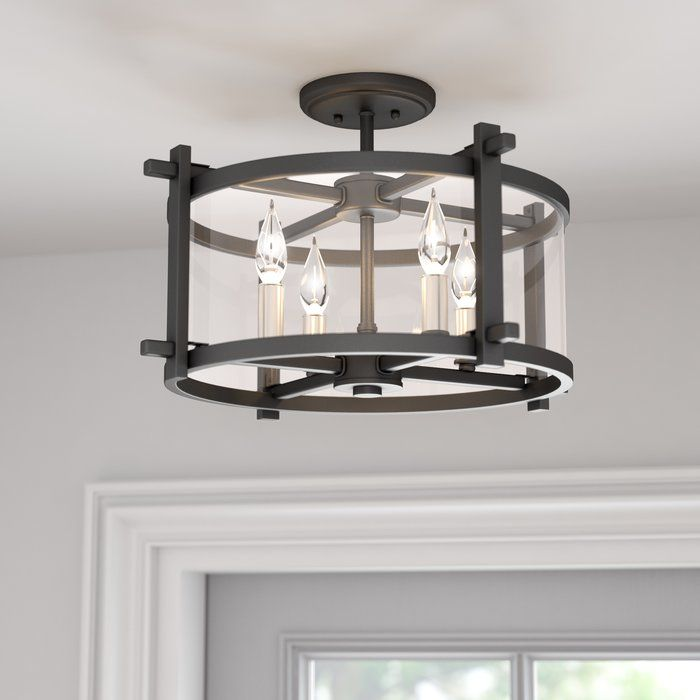 Country Kitchen Yucca Valley: Yucca Valley 4-Light Semi Flush Mount In 2019