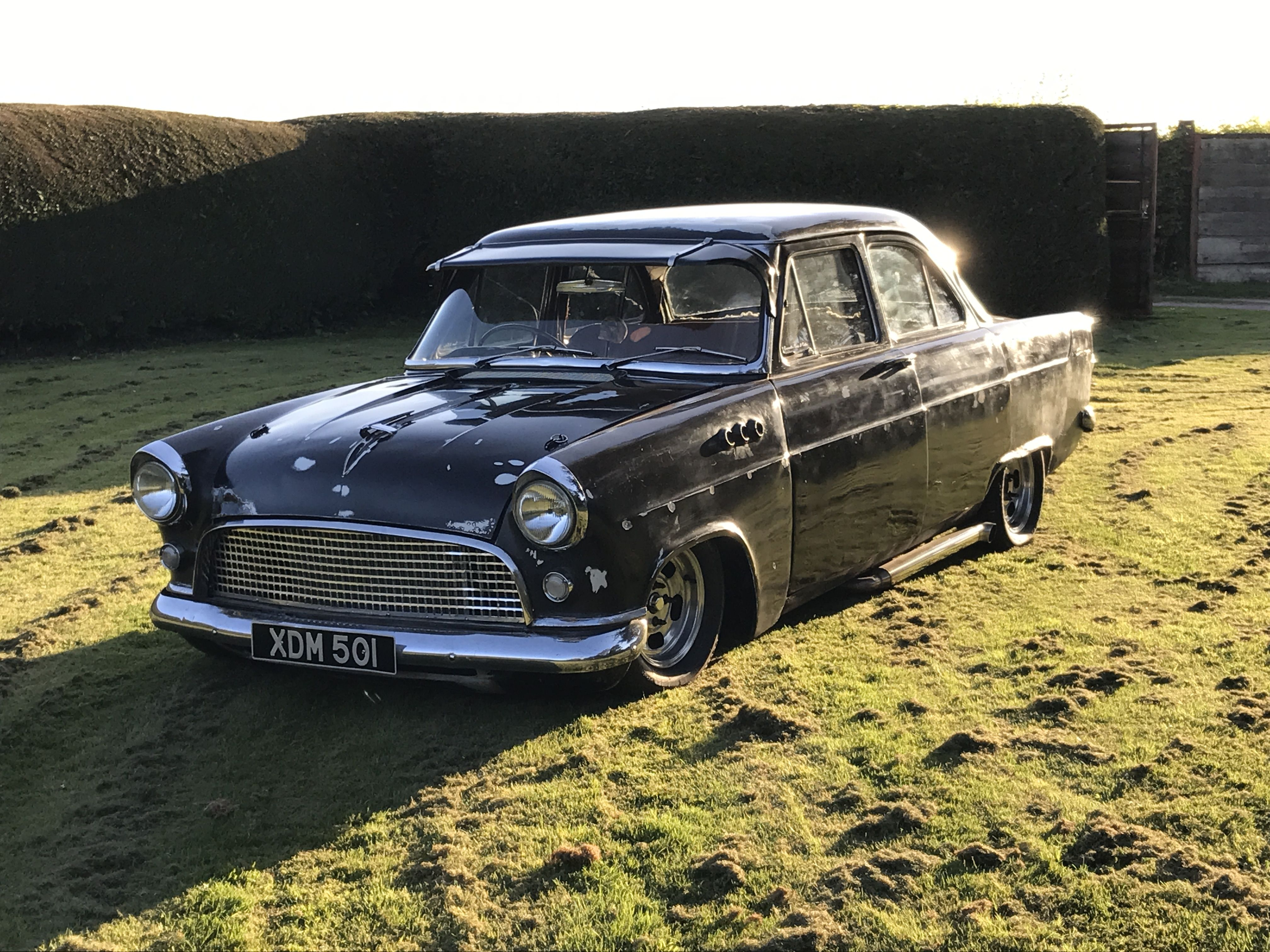 Ford Consul Mk2 Rat Rod Air Ride Essex V6 Side Pipes Hot Rod By Greensmiths Classic Custom Air Ride Rat Rod Consul