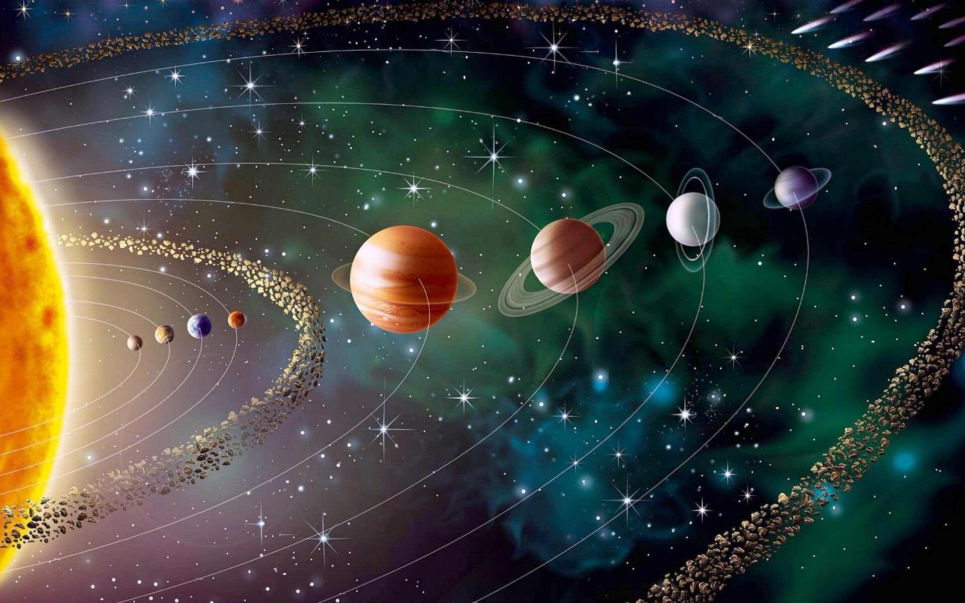 solar system images - HD1920×1200