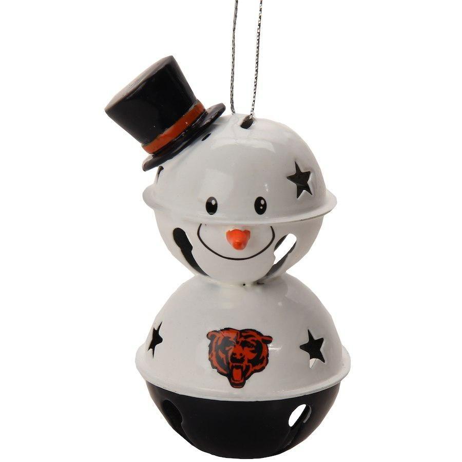 Chicago Bears Plush Snowman Christmas Ornament