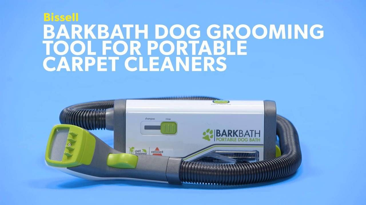 Bissell Barkbath Dog Grooming Tool For Portable Carpet Cleaners