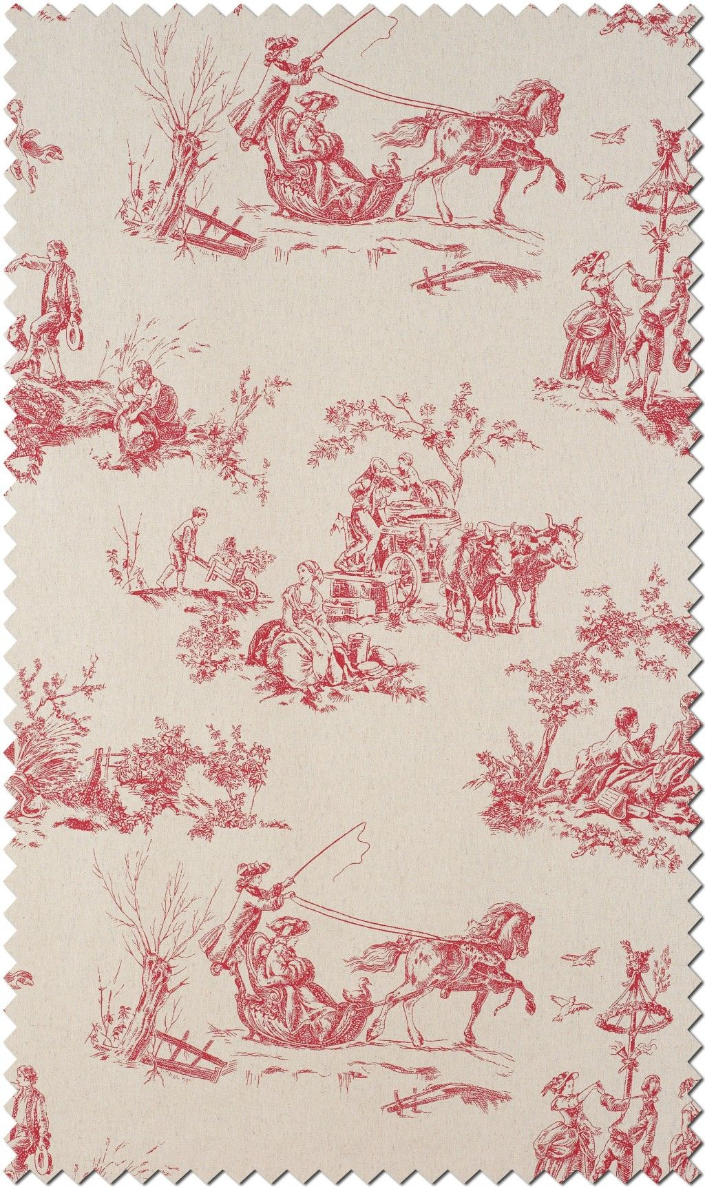toile de jouy fabric collection of casadeco amboise. Black Bedroom Furniture Sets. Home Design Ideas