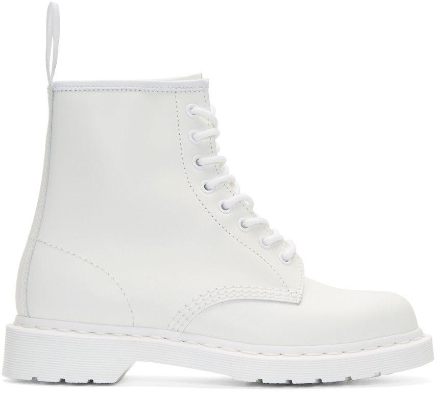 Dr. Martens Bottines blanches à huit oeillet 1460 Mono   Le soulier ... 081a8fce6d7f