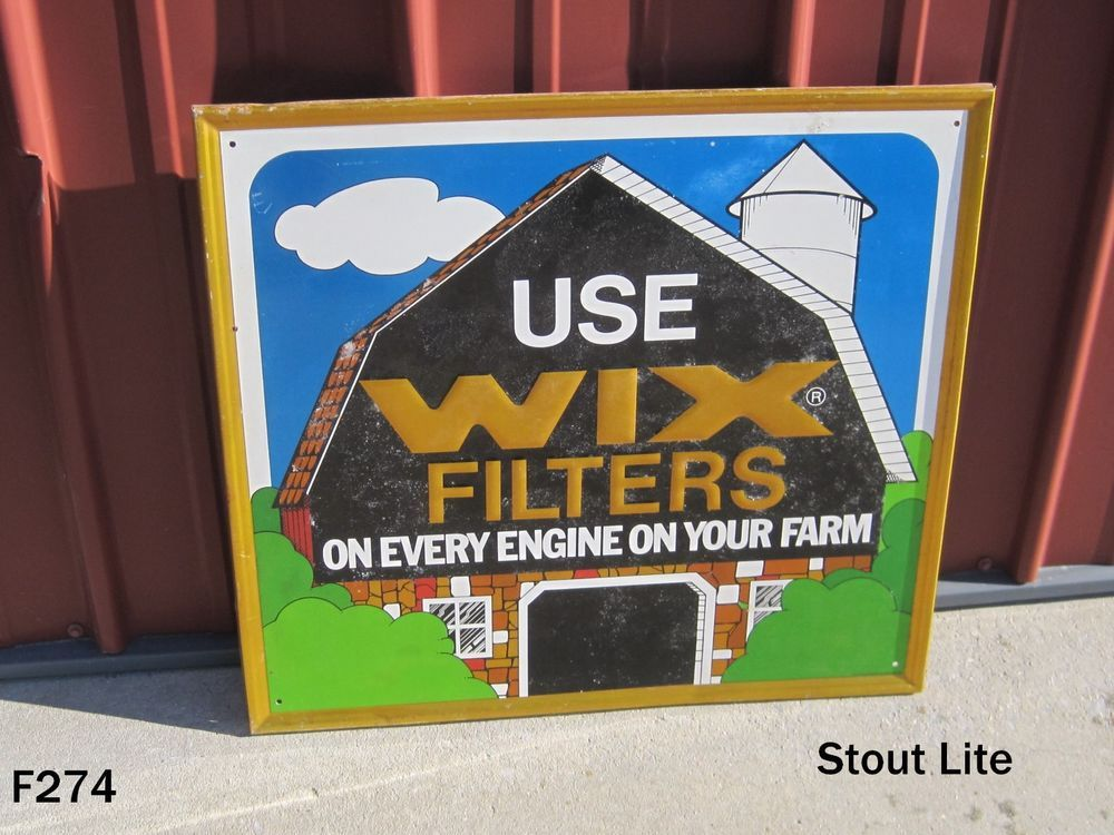 ORIGINAL USE WIX FILTERS FARM ENGINE METAL SIGN ADVERTISING