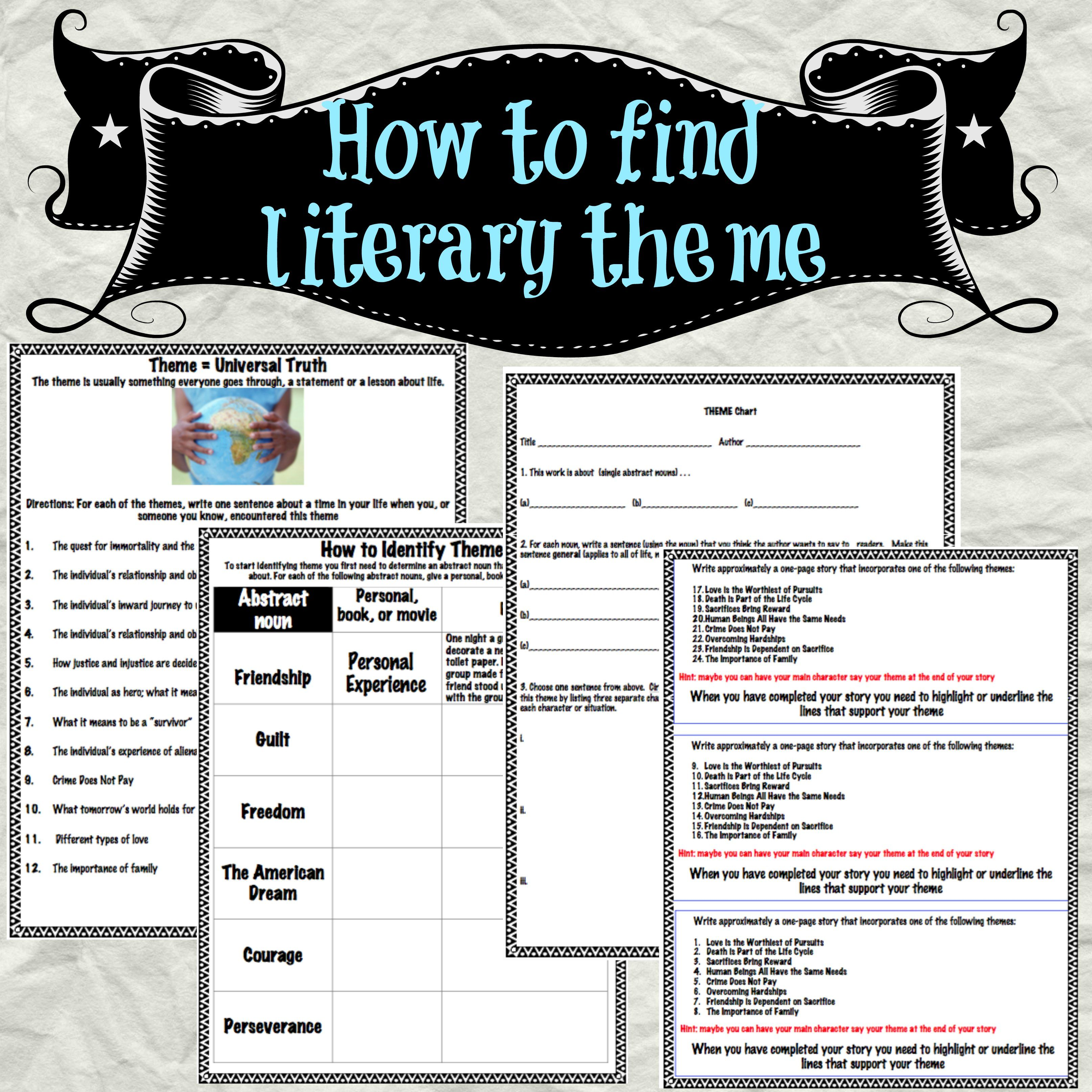 Identifying And Finding Theme