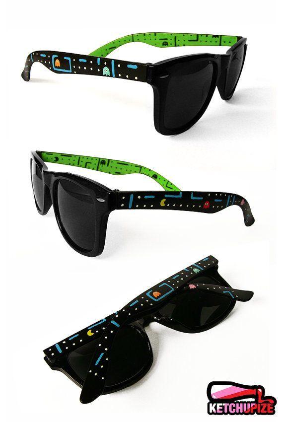 5d417582046 Custom Wayfarer style sunglasses Pacman unique hand painted ...