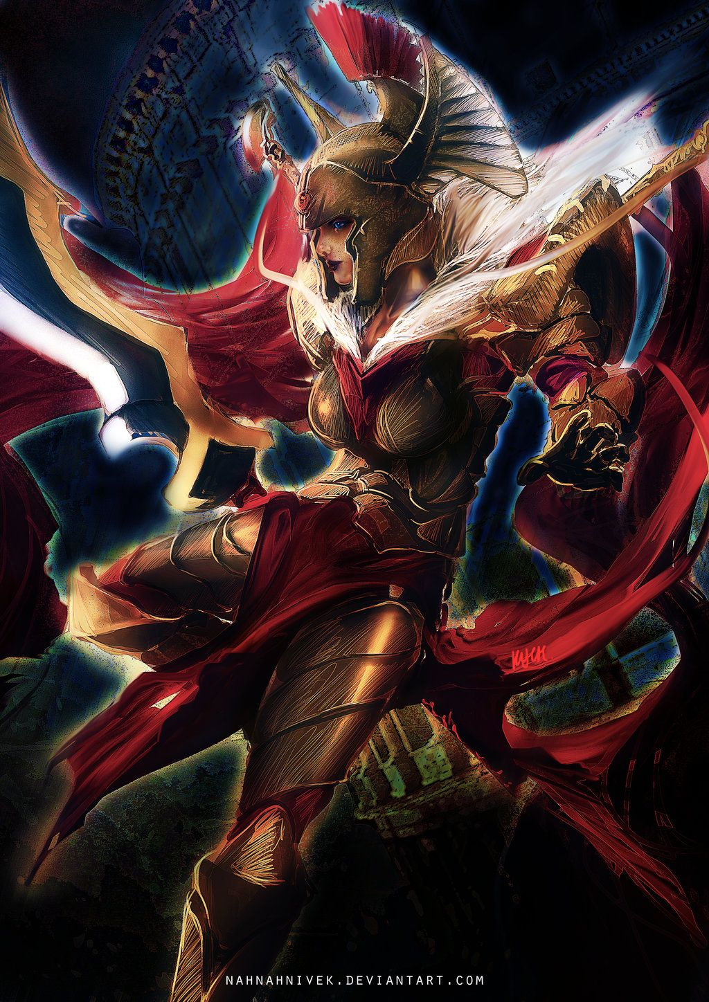 Dota 2 Legion Commander By Nahnahnivek Deviantart Com On