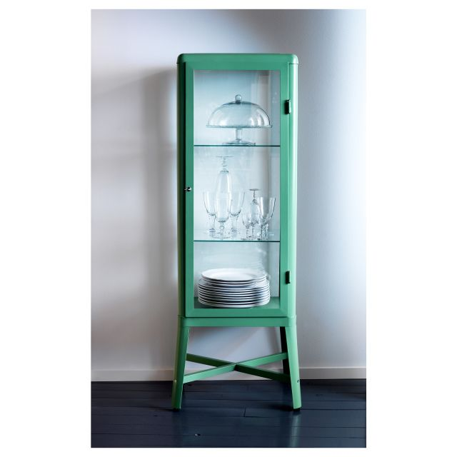 Glass Door Kitchen Cabinet Lighting: I Discovered This FABRIKÖR Glass-door Cabinet