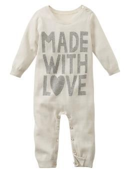 Love sweater one-piece -- Shop online at Baby Gap through Zoola and get cash back!  http://creambebe.com/