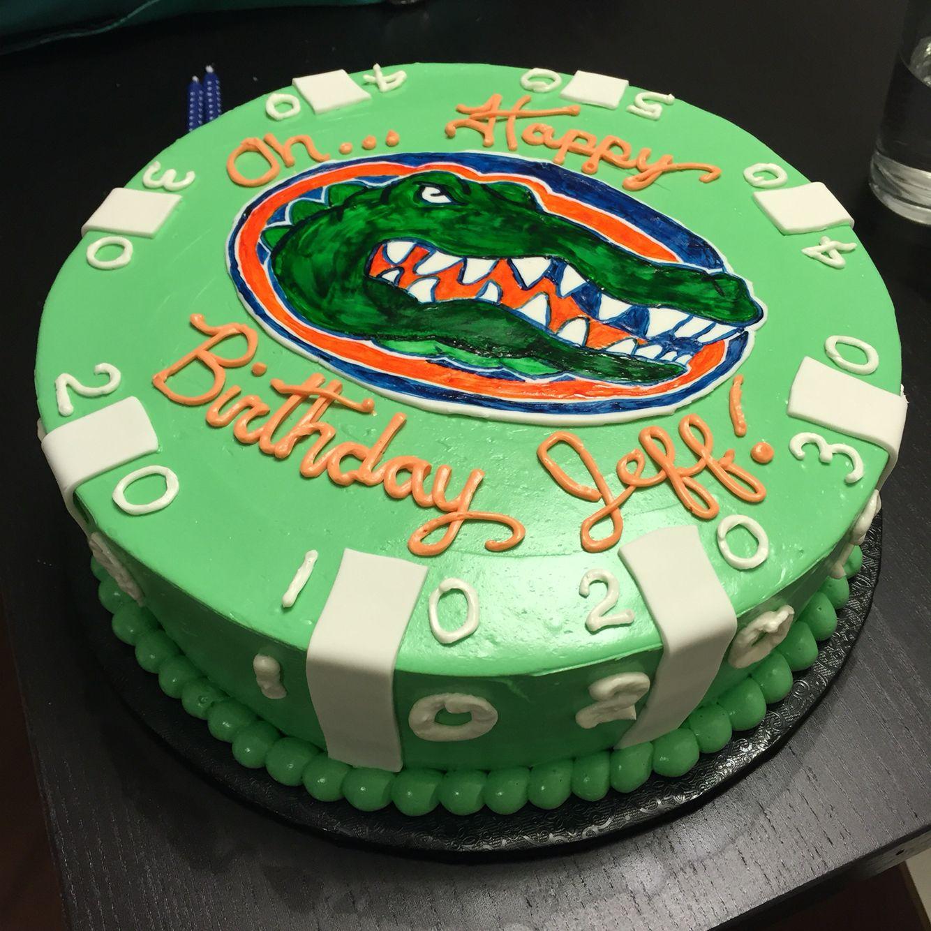 Florida Gators Football Birthday Cake Cakes Ive Made Pinterest