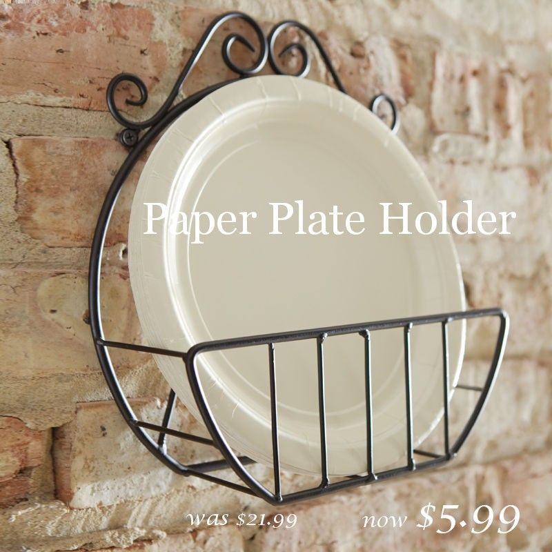 wooden paper plate holder for sale | ... these great buys and more click HERE and look for 3 DAY SUPER SALE & 3 DAY SUPER SALE | Plate holder Kitchens and Organizations