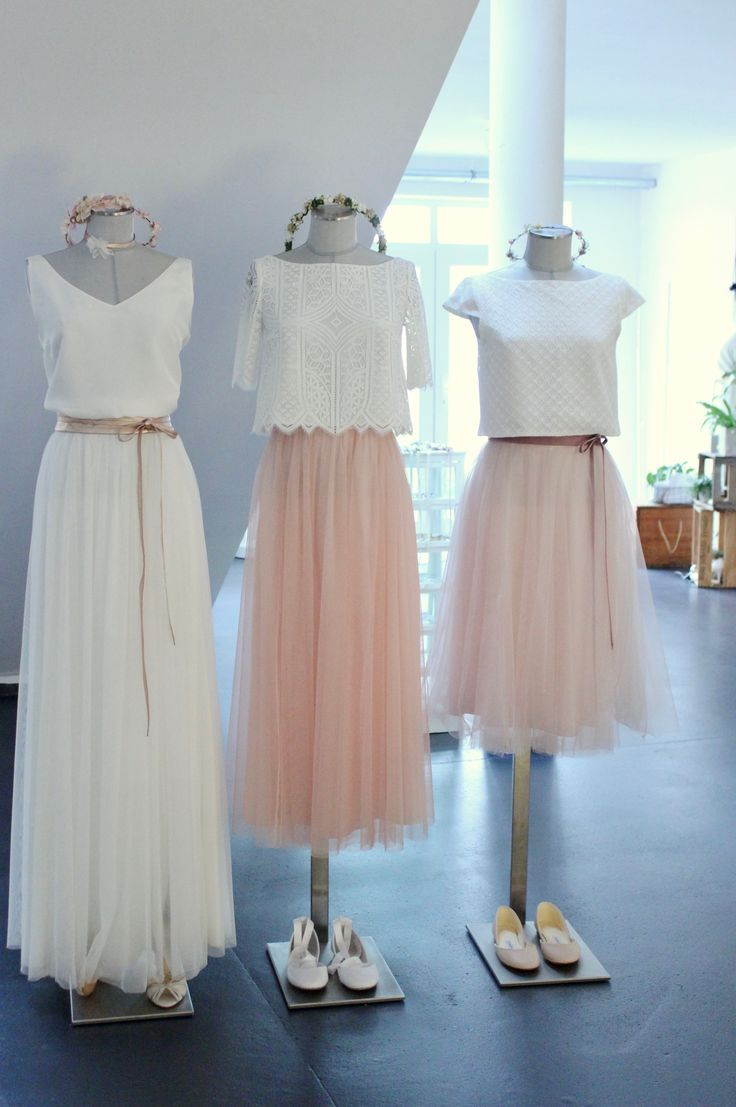 Moderne Brautkleider und zweiteilige Hochzeitskleider fuer ...