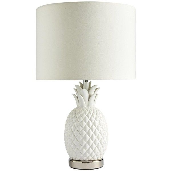 Myleene Klass Pineapple Table Lamp 56 Liked On Polyvore Featuring Home Lighting Table Lamps Pineapple Sha Funky Table Lamp Funky Lamps White Table Lamp